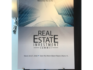 Poster for Real Estate Investment Summit 2018