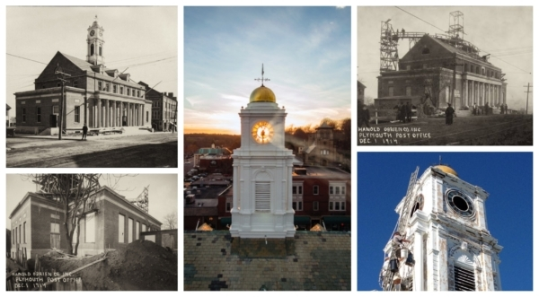 Collage of five historic buildings