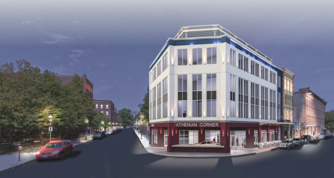 Historic landmark hotel and Athenian Corner restaurant rehabilitated with the use of tax credits