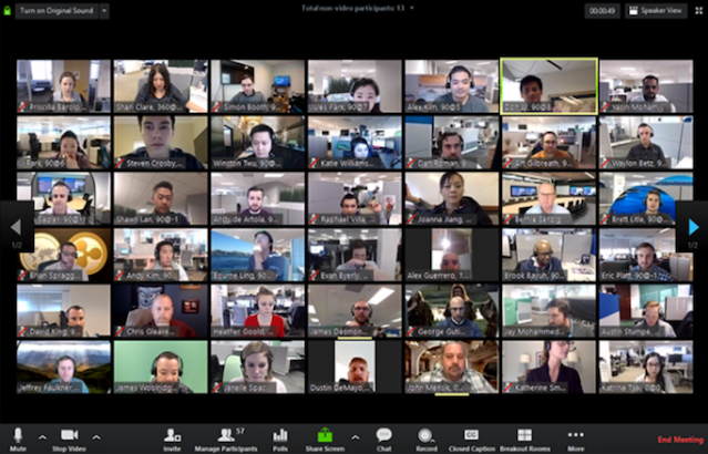 A screenshot of the participants in the virtual webinar event focusing on the Brownfield Tax Credits program.